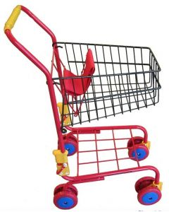 Metal Shopping Trolley Red
