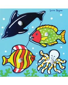 Knobbed Sea Life Puzzle 4pcs
