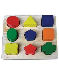 Geo Shapes Puzzle Board 9pcs