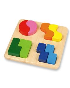 Raised Double Sided Shapes Board 8pcs