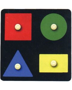 Knobbed Geo Shapes Puzzle 4pcs