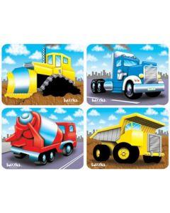 Raised Heavy Vehicles 4 Puzzle Set