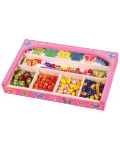 Wooden Butterflies Bead Box
