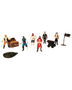 Pirate Figures and Accessories 9pcs