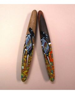 Clap Sticks Hand Painted 30cmL 2pcs