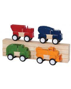 Block Mates Construction Vehicles  16pcs
