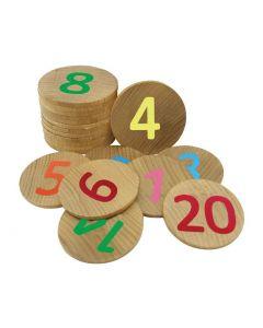 Numbers Memory Discs 20pcs