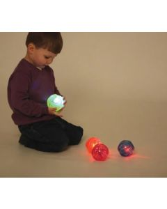 Sensory Flashing Irregular Bounce Balls Set 4pcs