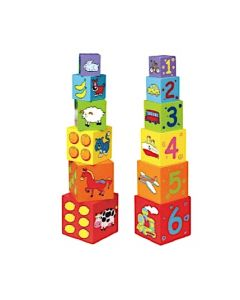 Wooden Stacking and Nesting Boxes 6pcs