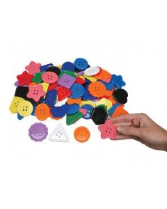 Large Shape Buttons Assorted 500g