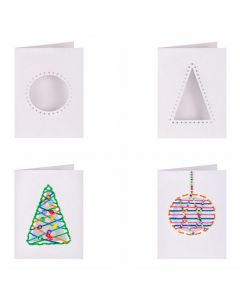 Christmas Cut Out Threading Greeting Cards 10pcs
