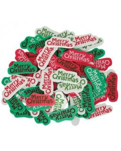 Merry Christmas Foam Stickers 80pcs