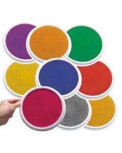 Paint Stamper Pads Large 16cm Set of 9