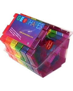 Geoshapes Pentagons with Triangle Crystal Fluoro Pack 30pcs