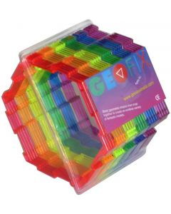 Geoshapes Hexagons Crystal Fluoro Pack 24pcs