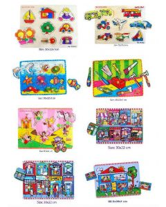 Knobbed Puzzle Combo Set of 8