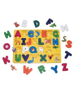 Large Alphabet With Animal Reveal Puzzle 50pcs