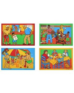 Different Families Puzzle Set of 4