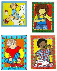 Helping Yourself Puzzle Set of 4