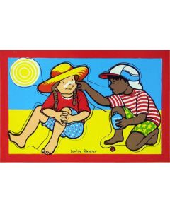 Applying Sunscreen Puzzle 15pcs