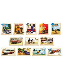 Emergency Puzzles & Posters Set 24pcs