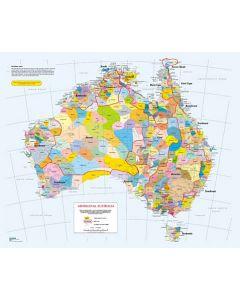Indigenous Languages Map A3 Table Puzzle 204pcs