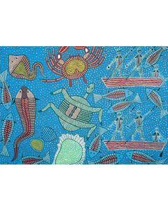 Gathering Seafood A3 Puzzle 96pcs