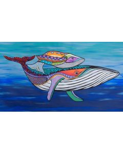 Humpback Whale and Calf A3 Puzzle 96pcs