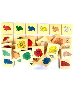 Sorting Game in Wooden Box