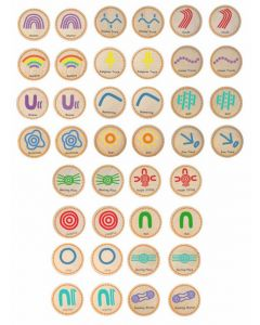 Indigenous Symbols Discs Game 40pcs