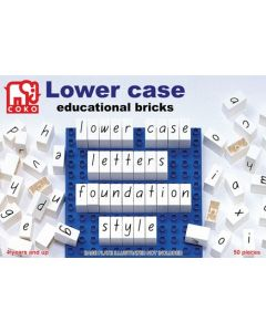 Coko Lower Case Letter Bricks 50pcs