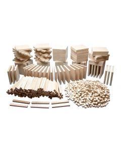 Wooden Base Ten Classroom Set 1284pcs