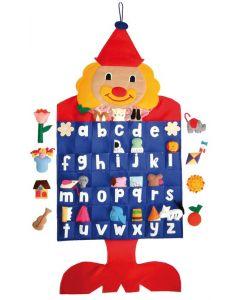 Alphabet Clown Fabric Wall Chart