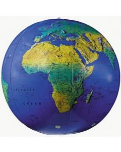 Topographical Inflatable World Globe 68cm