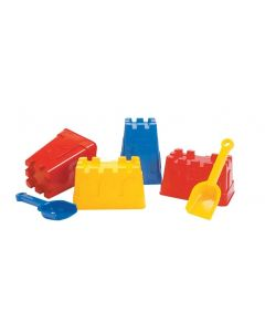 Castle Moulds and Scoops Set 6pcs