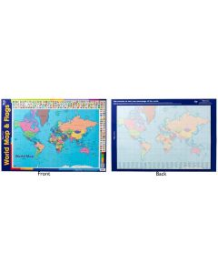 World Map Double Sided Poster
