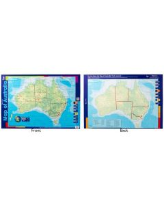 Poster Australia Map Double Sided