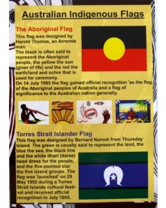 Indigenous Australian Flags Poster Laminated A3