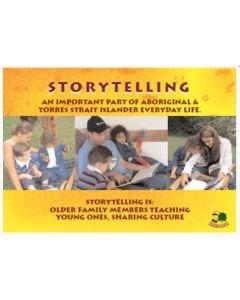 Aboriginal Storytelling Poster Laminated A3