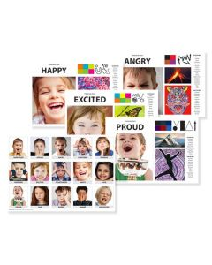 Emotions Art and Language Posters Set 15 x A3