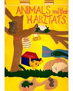 Animals & Their Habitats Fabric Wall Chart