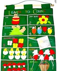 Learn to Count Fabric Wall Chart