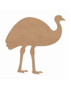 Huge Wooden Emu 93cmH