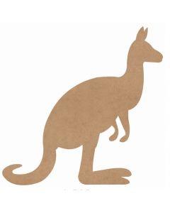 Huge Wooden Kangaroo 98cmH