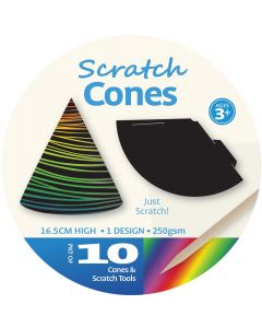 Scratch Art Cones 10pcs