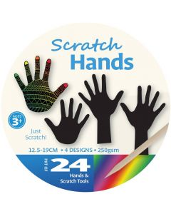 Scratch Art Hands 24pcs