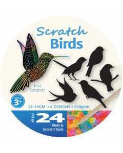 Scratch Art Birds 24pcs