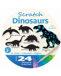 Scratch Art Dinosaurs 24pcs