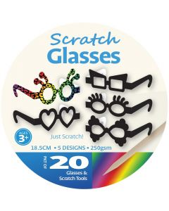 Scratch Art Glasses 20pcs