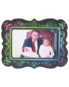 Scratch Art Magnetic Photo Frames 10pcs